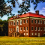 landscape of Drayton Hall Plantation mansion