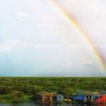 Floating Village and Rainbow:Tonle Lake