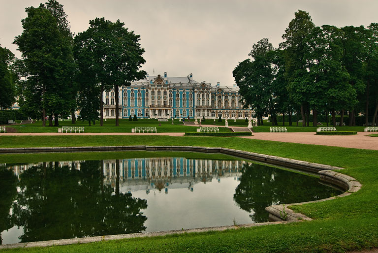 Tsarskoe Selo with Reflection Landscape