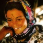 A young Berber woman with a facial tattoo