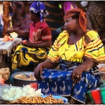 colorful women togo market