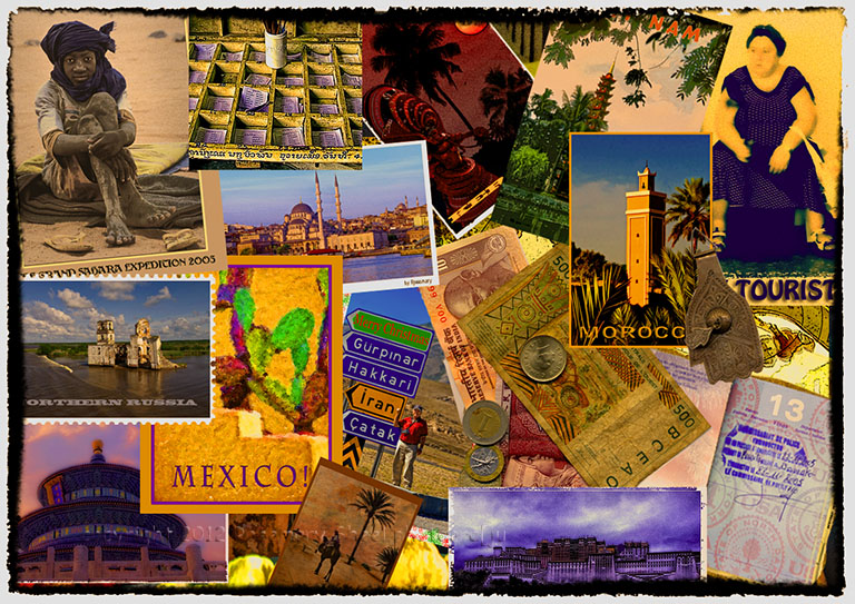 Travel Collage Travel Photographs By Rosemary Sheel