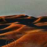 mountanous sand dunes of Morocco's Erg Chebbi at dusk